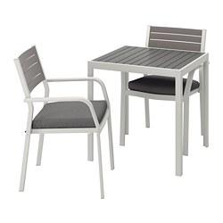 SJÄLLAND - Meja+2 kursi dg sdrn lgn, l.ruang, abu-abu tua/Frösön/Duvholmen abu-abu tua