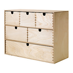 MOPPE - Lemari laci mini, plywood kayu birch