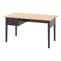 ARKELSTORP - Meja, hitam, 140x70 cm