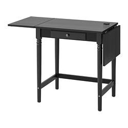INGATORP - Meja, hitam, 73x50 cm