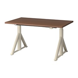 IDÅSEN - Desk sit/stand, brown/beige
