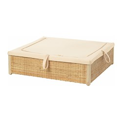 RÖMSKOG - Bed storage box, rattan