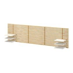 MANDAL - Kepala tempat tidur, kayu birch/putih