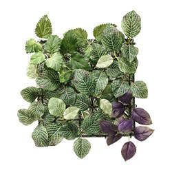 FEJKA - Artificial plant, wall mounted/in/outdoor green/lilac