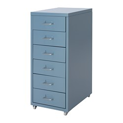 HELMER - Drawer unit on castors, blue