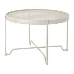 KROKHOLMEN - KROKHOLMEN, meja tamu, luar ruang, krem, 73 cm