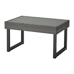 SOLLERÖN - Coffee table, outdoor, anthracite/dark grey