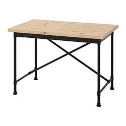 KULLABERG - KULLABERG, meja, kayu pinus/hitam, 110x70 cm