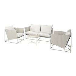 HAVSTEN - 4-seat conversation set, in/outdoor, beige