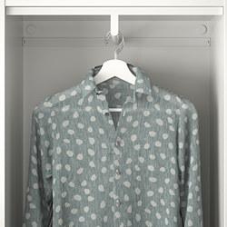 PLATSA - Lemari pakaian dgn 8 pintu + 3 laci, putih/Fonnes Sannidal