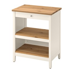 TORNVIKEN - Kitchen island, off-white/oak