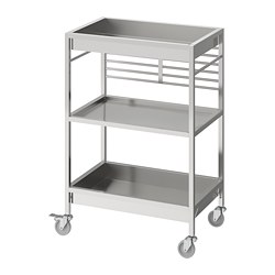 KUNGSFORS - Kitchen trolley, stainless steel