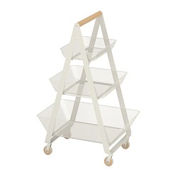 RISATORP - RISATORP, troli, putih, 57x39x86 cm