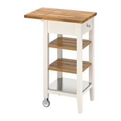 STENSTORP - STENSTORP, troli dapur, putih/kayu oak, 45x43x90 cm