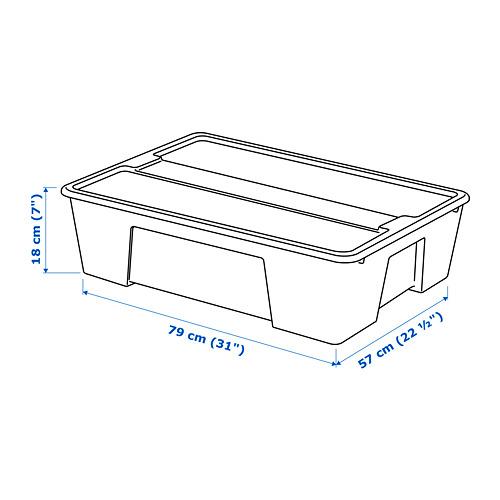 SAMLA kotak dengan penutup