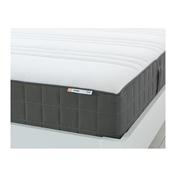 HÖVÅG - Pocket sprung mattress, firm/dark grey