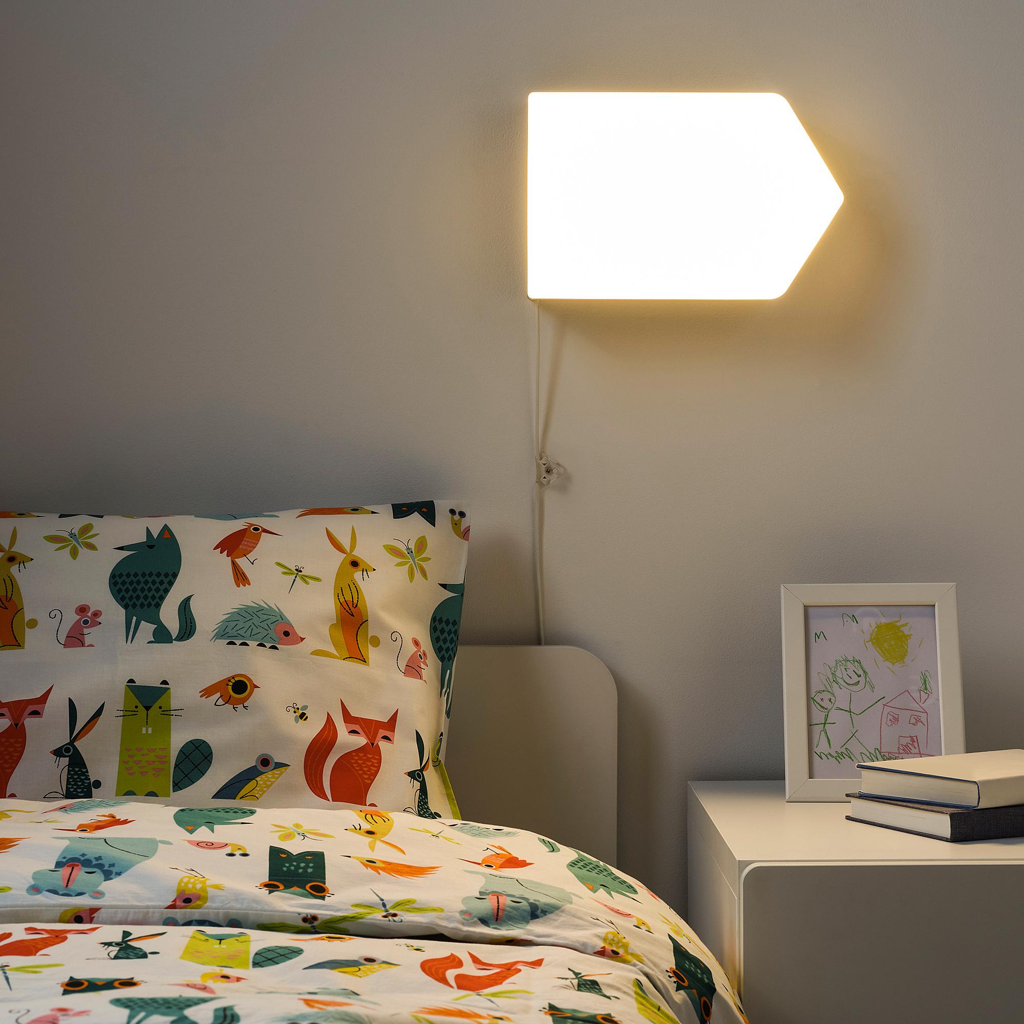 Bagaren Lampu Dinding Led Anak Panah Putih Hitam Ikea Indonesia Lampu dinding kamar tidur