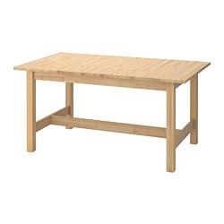 NORDEN - Meja yang dapat dipanjangkan, kayu birch