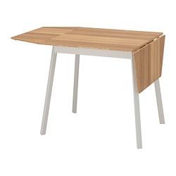 IKEA PS 2012 - Meja dengan daun meja lipat, bambu/putih