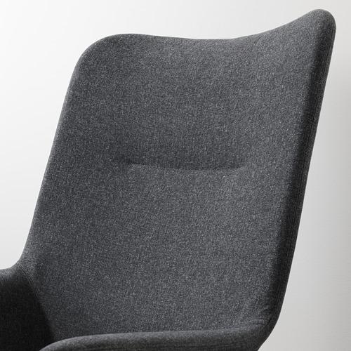 VEDBO kursi berlengan dg sandaran tinggi