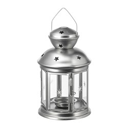 ROTERA - Lantern for tealight, in/outdoor galvanised