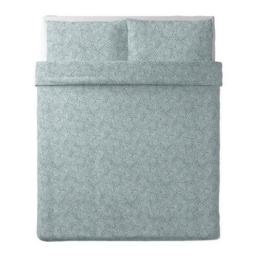 TRÄDKRASSULA sarung quilt dan 2 sarung bantal