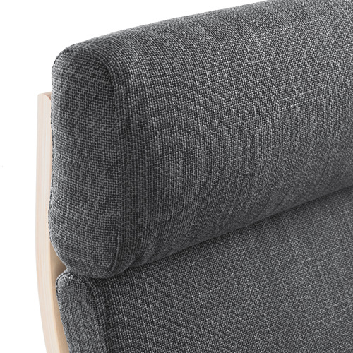 POÄNG - kursi berlengan, veneer kayu birch/Hillared antrasit   IKEA Indonesia - PE628949_S4