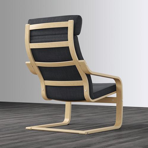 POÄNG - kursi berlengan, veneer kayu birch/Hillared antrasit   IKEA Indonesia - PE628950_S4