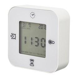 KLOCKIS - Jam/termometer/alarm/pengatur waktu, putih