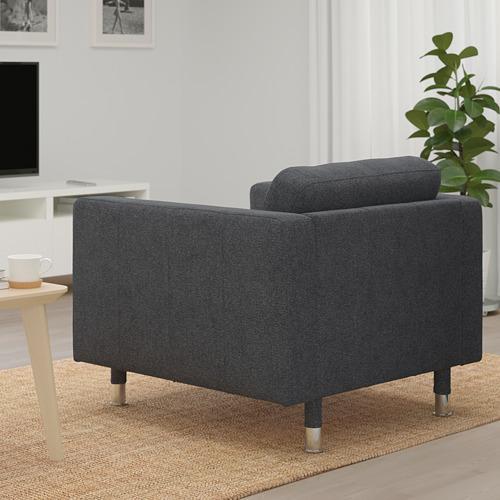 LANDSKRONA - kursi berlengan, Gunnared abu-abu tua/logam   IKEA Indonesia - PE680154_S4
