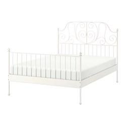 LEIRVIK - Rangka tempat tidur, putih/Luröy