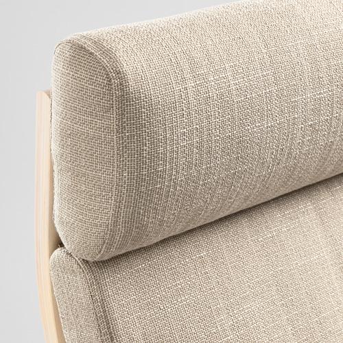 POÄNG - kursi berlengan, veneer kayu birch/Hillared krem | IKEA Indonesia - PE628954_S4