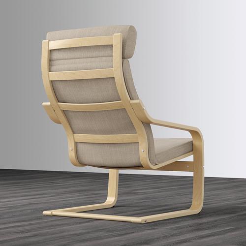 POÄNG - kursi berlengan, veneer kayu birch/Hillared krem | IKEA Indonesia - PE628955_S4