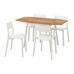 JANINGE/IKEA PS 2012 - Meja dan 4 kursi, bambu/putih