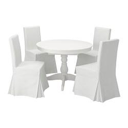 INGATORP/HENRIKSDAL - Meja dan 4 kursi, putih/Blekinge putih
