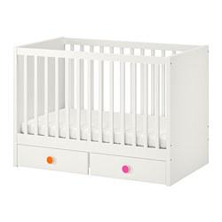 STUVA/FÖLJA - Ranjang bayi dengan laci, putih