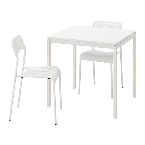 MELLTORP/ADDE meja dan 2 kursi