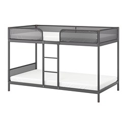 TUFFING - Bunk bed frame, dark grey