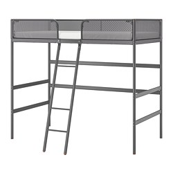 TUFFING - Loft bed frame, dark grey