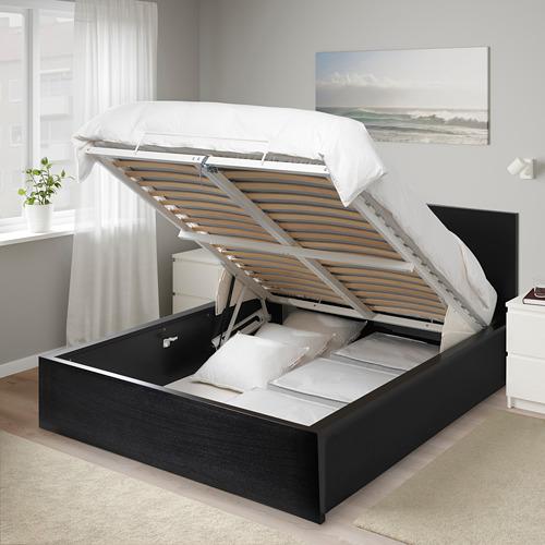 MALM - tempat tidur ottoman, hitam-cokelat, 160x200 cm | IKEA Indonesia - PE663672_S4