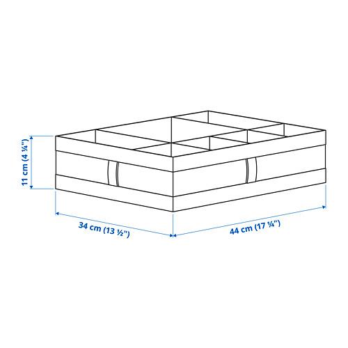 SKUBB - kotak dengan kompartemen, abu-abu tua, 44x34x11 cm | IKEA Indonesia - PE793914_S4