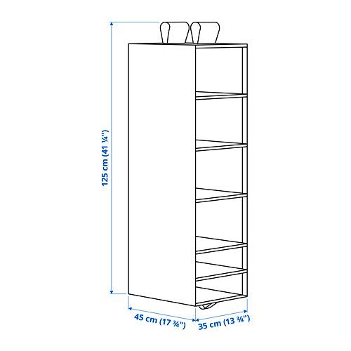 SKUBB - penyimpanan dengan 6 kompartemen, putih, 35x45x125 cm | IKEA Indonesia - PE793922_S4