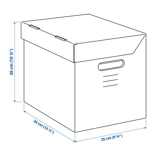 PAPPIS - kotak dengan penutup, cokelat, 25x34x26 cm   IKEA Indonesia - PE794009_S4