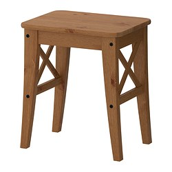 INGOLF - Stool, antique stain