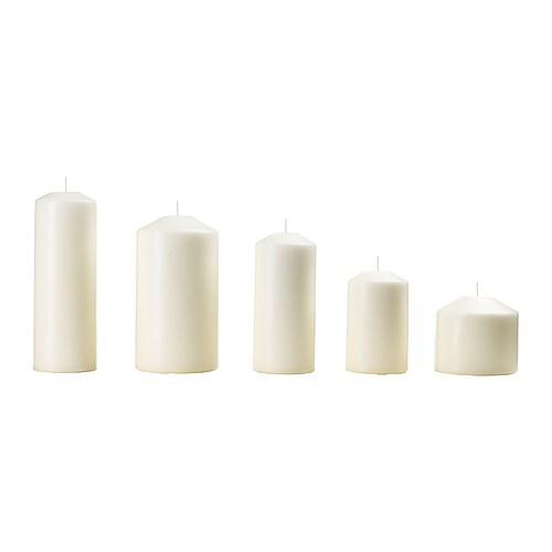 FENOMEN lilin blok tanpa aroma, set isi 5