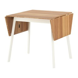 IKEA PS 2012 - Drop-leaf table, bamboo/white