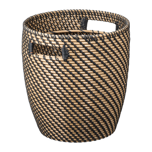 RÅGKORN - plant pot, in/outdoor natural, 24 cm | IKEA Indonesia - PE699213_S4