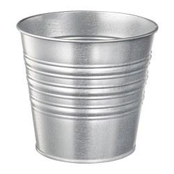 SOCKER - Plant pot, in/outdoor/galvanised