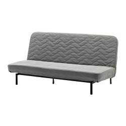 NYHAMN - 3-seat sofa-bed, with foam mattress/Knisa grey/beige
