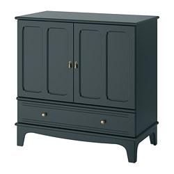 LOMMARP - Cabinet, dark blue-green, 102x101 cm
